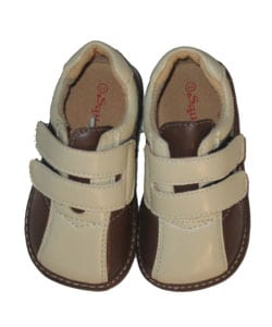 &#39;Squeakies&#39; Baby and Toddler Brown Velcro Shoes