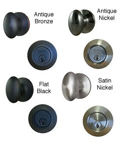 Egg Shaped Entrance Door Knob with Keyed Alike Deadbolt