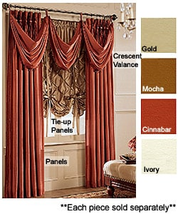 Opulence 64-inch Tie-up Window Curtain Panel