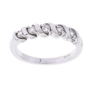14k White Gold 1/4ct TDW 5-stone Diamond Ring (G-H, I2)