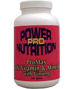 ProMax Multi-vitamin and Minerals with Ginseng (200 Tablets)