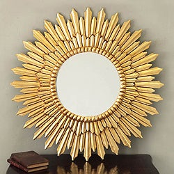 Sunbeams Mohena Wood Frame Mirror (Peru)