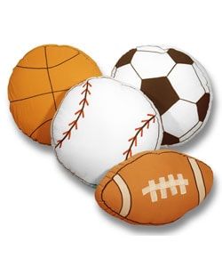 Play Ball Sports Themed Decorative Pillows
