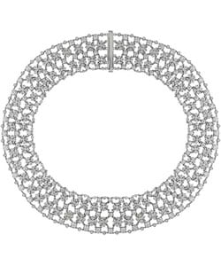 Miadora Signature Collection 18k White Gold 28-1/6ct TDW Diamond Necklace