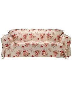 Saras Rose Printed Sofa Slipcover