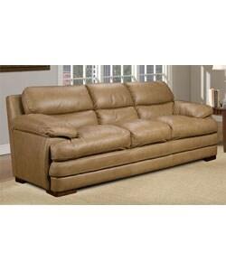 Baron Taupe Leather Sofa