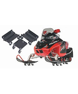 Universal Three-piece Heavy-duty Black Steel Snowmobile Dolly Set