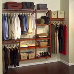 John Louis Standard Red Mahogany Closet System