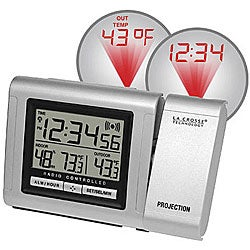 Projection Alarm Clock with Outdoor Temperature