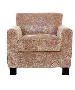 Park avenue paisley velour arm chair 11068802 for Abbyson living soho cream fabric chaise
