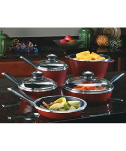 Regalware Red Cast Aluminum Pots and Pans