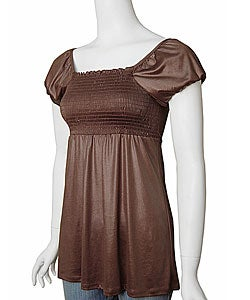 Copper Key Satin Finish Stretch Babydoll Top