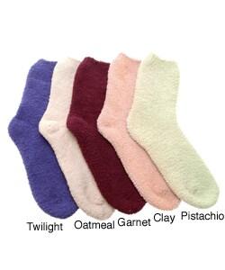 Fireside Casuals Women's Micro Chenille Socks (Set of 4)
