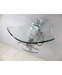 Contemporary Wall-mount Waterfall Sink