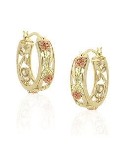Mondevio Goldover Sterling Silver Hoop Earrings