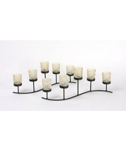 Cream Serpentine Candle Holders (Set of 2)