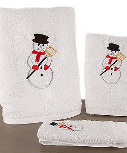 Set of 6 Snowman Towels