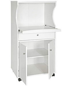 Tiffany White Microwave Cart