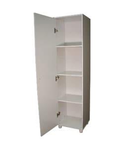 Pantry - Single Door Pantry - 3 Shelves (2 Adjustable) - Wood