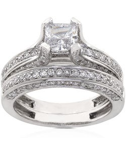 18k Gold 1 7/8ct TDW Diamond Bridal Ring Set (G-H, VS)