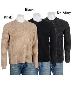 Next Men's Ribbed Wool Crew Neck Sweater