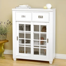 White Modern Cottage Storage Cabinet Base