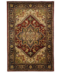 Safavieh Handmade Classic Herize Red Wool Rug (5' x 8')
