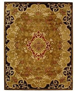 Safavieh Handmade Classic Juliette Gold Wool Rug (9'6 x 13'6)