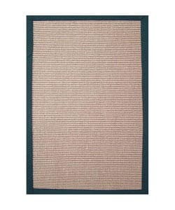 Hand-woven Emerald Green Sisal Rug (8'9 x 12')