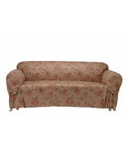 Ultimate Suede Floral Print Sofa Slipcover