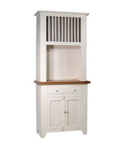 rustic small white kitchen hutch 11114105 overstock