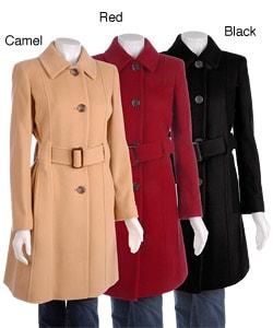 Anne Klein Women's Cashmere Blend Overcoat