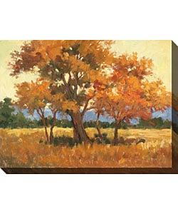 Karen Wilkerson 'Landscape in Gold II' Canvas Art