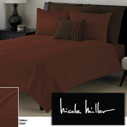 Nicole Miller Concentric Box Copper Coverlet Set