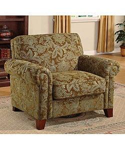 Stanford aqua brown print chair 11124078 for Abbyson living soho cream fabric chaise