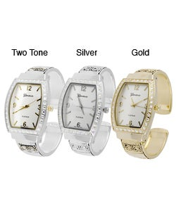 Geneva Platinum Women's Rhinestone Accented Watch