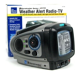 Storm Tracker Plus Weather Band w/ TV, Light, Radio