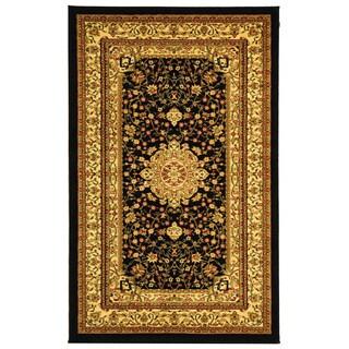 Safavieh Lyndhurst Collection Mashad Black/ Ivory Rug (3'3 x 5'3)