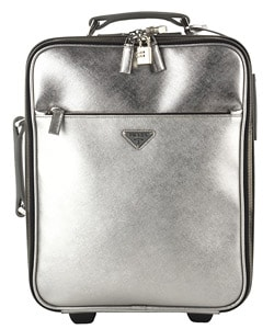 prada men handbags - Prada Small Silver Leather Rolling Suitcase - 11134386 - Overstock ...
