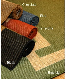 Borderline Polypropylene Area Rug (7'10 x 11'2)