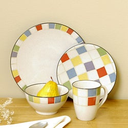 Noritake Checkers 16-piece Dinnerware Set