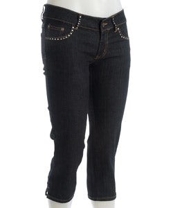 Hip Jeans Women's Denim Embellished Capri Pants