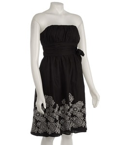 Essentials by A.B.S Strapless Embroidered Sundress