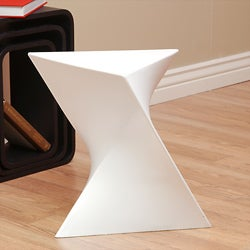 Prism White Side Table