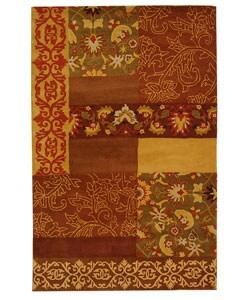 Safavieh Handmade Cosmopolitan Blocks Wool Rug (8' x 10')