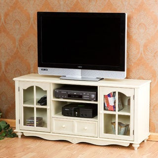 Harper Blvd Medallion Antique White Entertainment Center