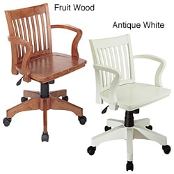 Office star deluxe task chair with ratchet back height adjustment and