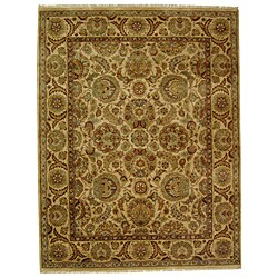 Safavieh Hand-knotted Ivory/ Ivory Eternity Wool Rug (9' x 12')