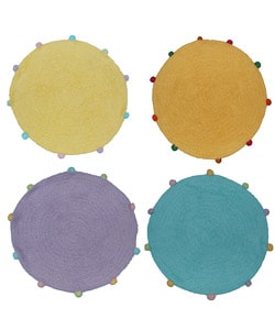 Set of 2 Powder Puff Round Rugs (2'4 Round)