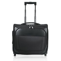 Traveler's Choice Black Rolling 15-inch Laptop Carry On Overnighter Tote